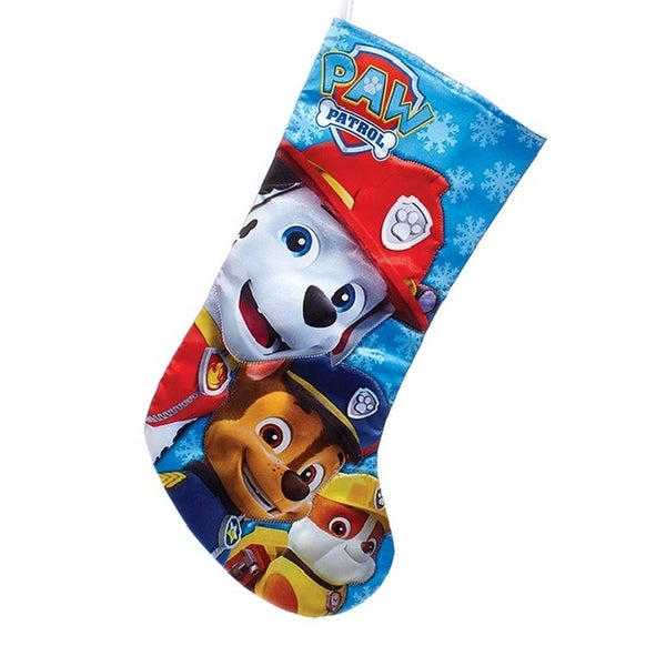 """17.5"""" Paw Patrol Characters Printed Decorative Christmas Stocking - BLue"""
