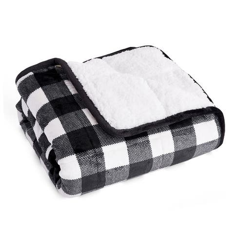 Kids Velvet Sherpa Weighted Throw Blanket 6 lb 40x60 inches