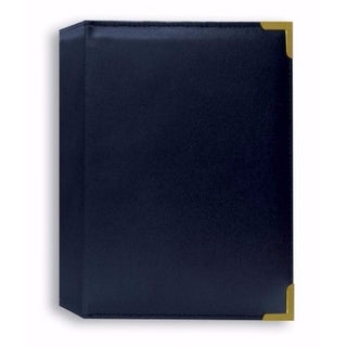 "Pioneer SM57-NABX Book Bound Oxford Brass Corner 5"" x 7"" Photo Album (Navy Blue)"