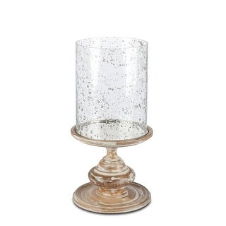 """20.5"""" Rustic Brown Antique Style Distressed Finish Indoor Candle Holder"""