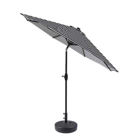 Amada 9-foot Aluminum Patio Umbrella with Tilt and Crank