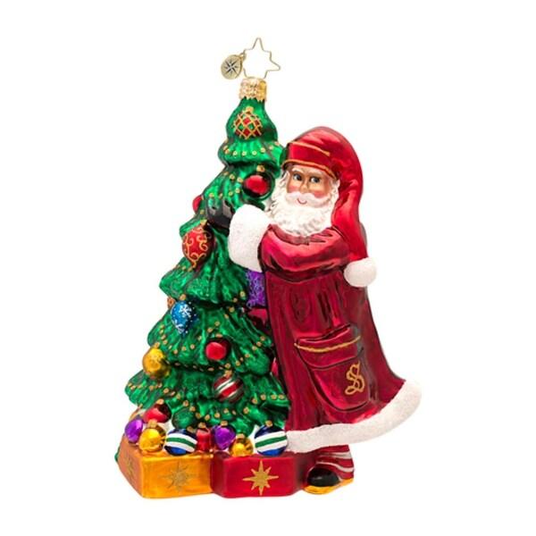 Christopher Radko Glass Claus Family Favorites Santa Christmas Ornament #1016881