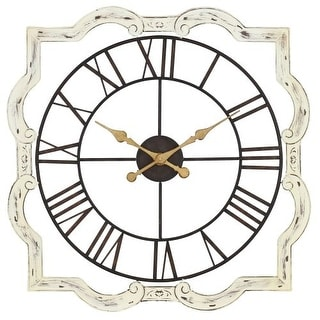 Aspire Home Accents 4371 32 Inch Square Metal Wall Clock from the Eloise Collect