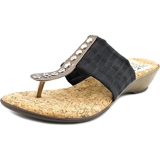 Love and Liberty Palm Beach   Open Toe Canvas  Thong Sandal