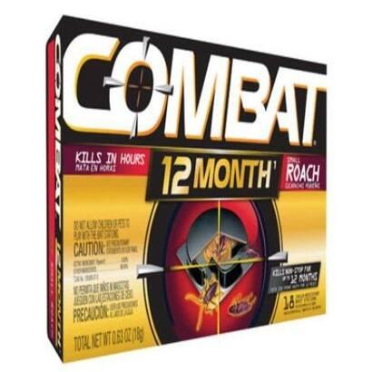 Combat 97218 12 Months Roach Control, 18 Bait Stations