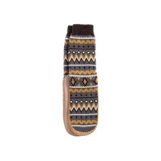 Muk Luks Slippers Mens Pull On Form Fitting Sock Acrylic 0016342