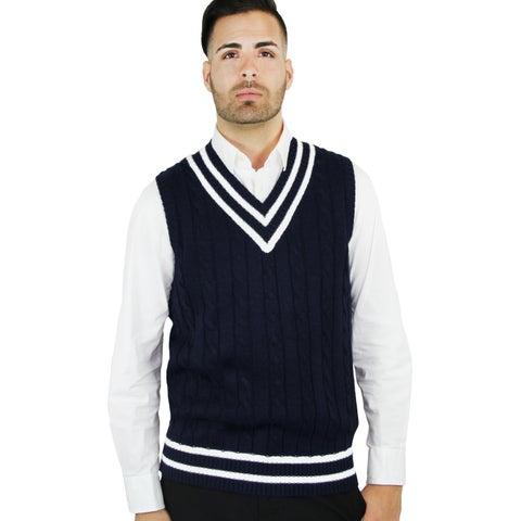 Men's Cable Cricket Vest (SV-222)