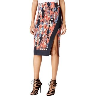 Rachel Rachel Roy Womens Pencil Skirt Printed Side Slit