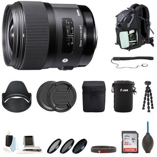 Sigma 35mm f/1.4 DG HSM ART Lens for Nikon F Accessory Bundle