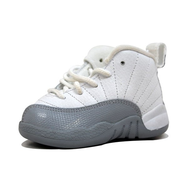 923e552d0471 Nike Toddler Air Jordan XII 12 Retro White Black-Wolf Grey Barons 819666-