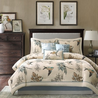Link to Madison Park Pierce 7-piece Cotton Twill Printed Comforter Set Similar Items in Comforter Sets