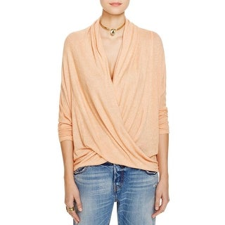 We The Free Womens Sheila Pullover Sweater Drapey Faux-Wrap