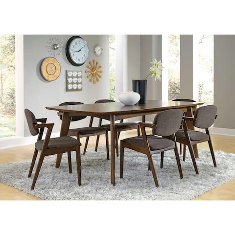 Vance Mid-Century Modern Fabric Dining Chairs (Set of 2)
