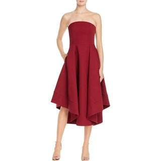 Cameo Womens Making Waves Semi-Formal Dress Strapless Asymmetric