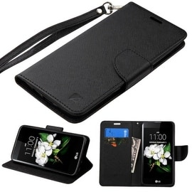 Insten Stand Folio Flip Leather Wallet Flap Pouch Case Cover For LG K7 Tribute 5