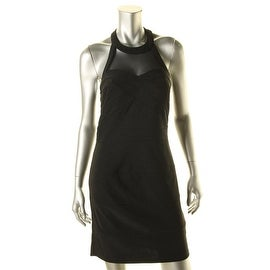 Crystal Doll Womens Juniors Halter Banded Clubwear Dress - 9