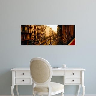 Easy Art Prints Panoramic Images's 'Buildings in a row, Catalonia, Barcelona, Spain' Premium Canvas Art