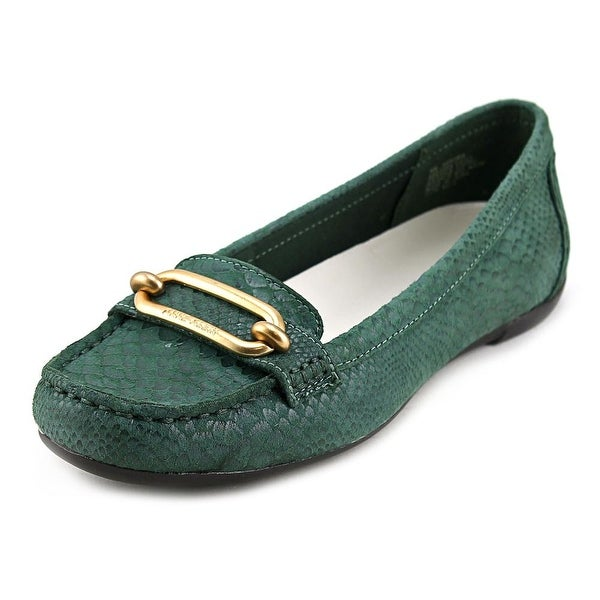 c5272c0c8d3 Shop Anne Klein Noris Women Round Toe Leather Green Loafer - Free ...