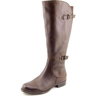Naturalizer Jamison Wide Calf Women Round Toe Leather Brown Knee High Boot