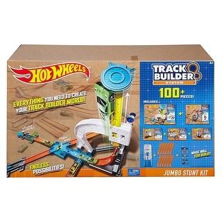 Hot Wheels Track Builder 100+ Piece Jumbo Stunt Kit - Multi