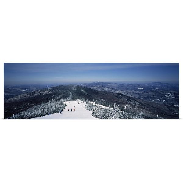 """Ski resort, Sugarbush Resort, Warren, Washington County, Vermont"" Poster Print"