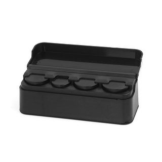 Unique Bargains Car Plastic Interior Coin Change Storage Holder Case Box Container Organizer