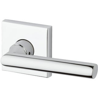 Baldwin HD.TUB.R.CSR Tube Single Dummy Lever with Contemporary Square Rose - Right Handed - N/A