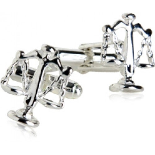 Sterling Silver Scales Of Justice Lawyer Law Attorney Judge Cufflinks