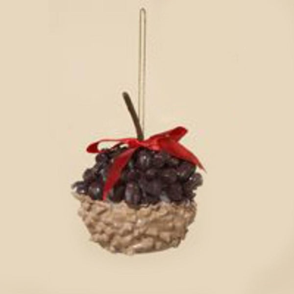 """3"""" Chocolate Shop Candy Apple with Chocolates Christmas Ornament - brown"""