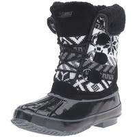 Khombu Mayana Waterproof Snow Boot Shoes Black - 7 b(m)
