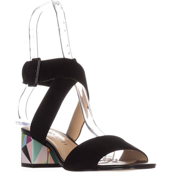 Katy Perry The Margot Heeled Sandals, Black Geoprint