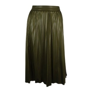 Grace Elements Women's Faux Leather Pleated Skirt