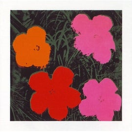 ''Flowers I'' by Andy Warhol Floral Art Print (23.5 x 23.5 in.)