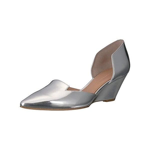 Sigerson Morrison Womens Wenda D'Orsay Heels Mirrored Silver 6.5 Medium (B,M) - 6.5 medium (b,m)