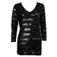 Sutton Studio Womens Embellished Cashmere Tunic - Black