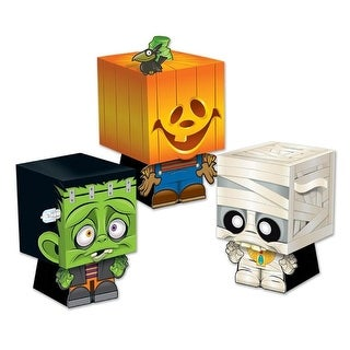 Club Pack of 36 Decorative Halloween Goody Ghoulies Favor Boxes 5""