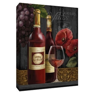 """PTM Images 9-148635  PTM Canvas Collection 10"""" x 8"""" - """"Chateau Wine II"""" Giclee Fruits and Wine Art Print on Canvas"""