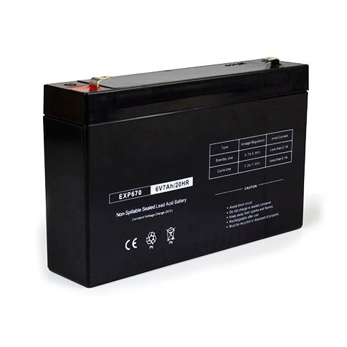 Replacement AGM SLA Battery 6V-7Ah Single Pack Replacement AGM SLA Battery