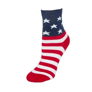 K. Bell Kids' Cotton USA American Flag Socks - stars/stripes - One Size