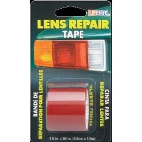 "Lifesafe RE36034 Non-Reflective Lens Repair Tape, 1.5""x5', Red"