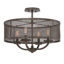 """Savoy House 6-2504-4 Nouvel 4 Light 20"""" Wide Semi-Flush Ceiling Fixture"""