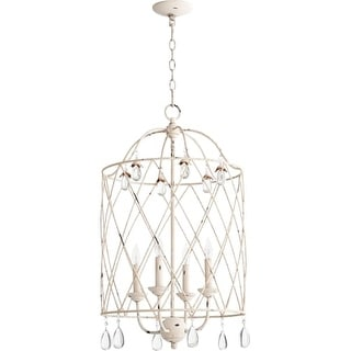 """Quorum International 6944-4 Venice 17"""" Wide 4 Light Pendant with Crystal Accents"""