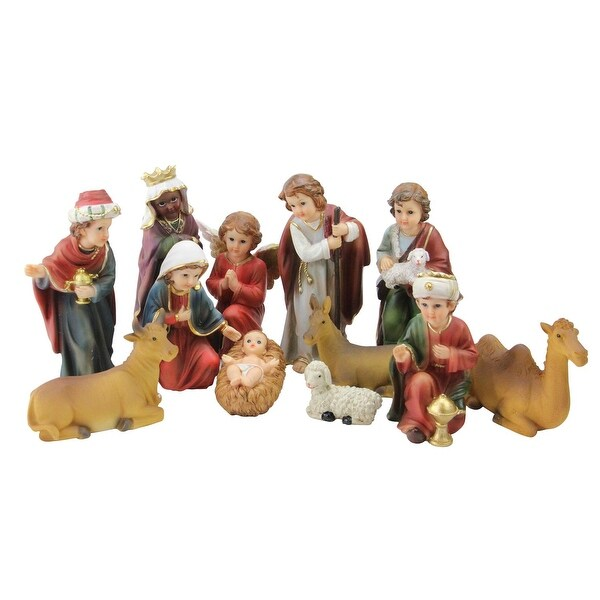 12-Piece Religious Children's First Christmas Nativity Set