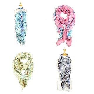 Fashion Lightweight Scarves 4pcs. Pack - L