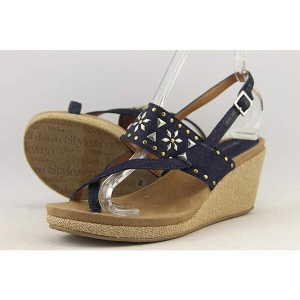 Style & Co. Womens Jazzmine Split Toe Casual Platform Sandals