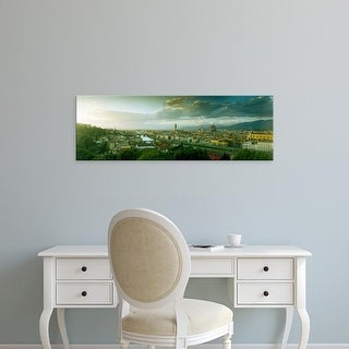 Easy Art Prints Panoramic Image 'View of a city from Piazzale Michelangelo, Florence, Tuscany, Italy' Canvas Art