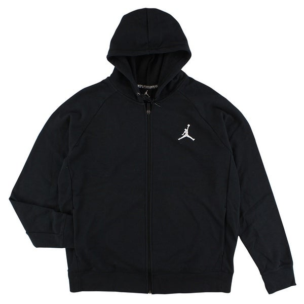f257a268cfe Shop Jordan Mens Lite Full Zip Hoodie Black - XL - On Sale - Free Shipping  Today - Overstock - 22545315