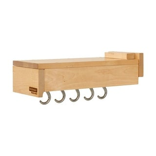 """Rev-A-Shelf GLD-W14-S-5  Glideware 5 Hook Base Cabinet Pull Out Organizer for 15"""" Deep Cabinets with Ball Bearing Slides"""