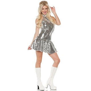 Underwraps Dance Fever Adult Costume - Silver
