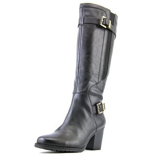 Naturalizer Trebble Round Toe Leather Knee High Boot